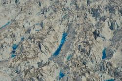 Illulisat glacier from plane (Greenland)
