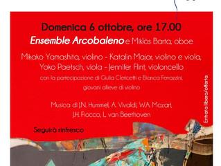 Concerto di chiusura della nostra rassegna concertistica: l'Ensemble Arcobaleno