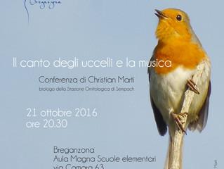 21 OTTOBRE: Il canto degli uccelli