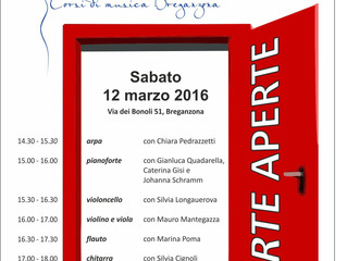 PORTE APERTE: VIENI A PROVARE UNO STRUMENTO!
