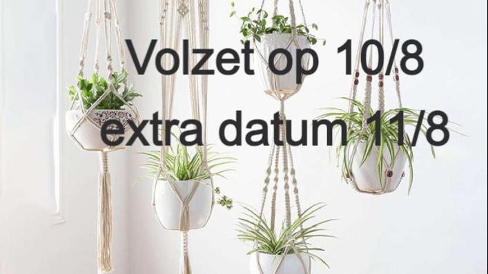Macramé plantenhanger-wandtapijt  (VW)