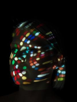 studio portret projectie