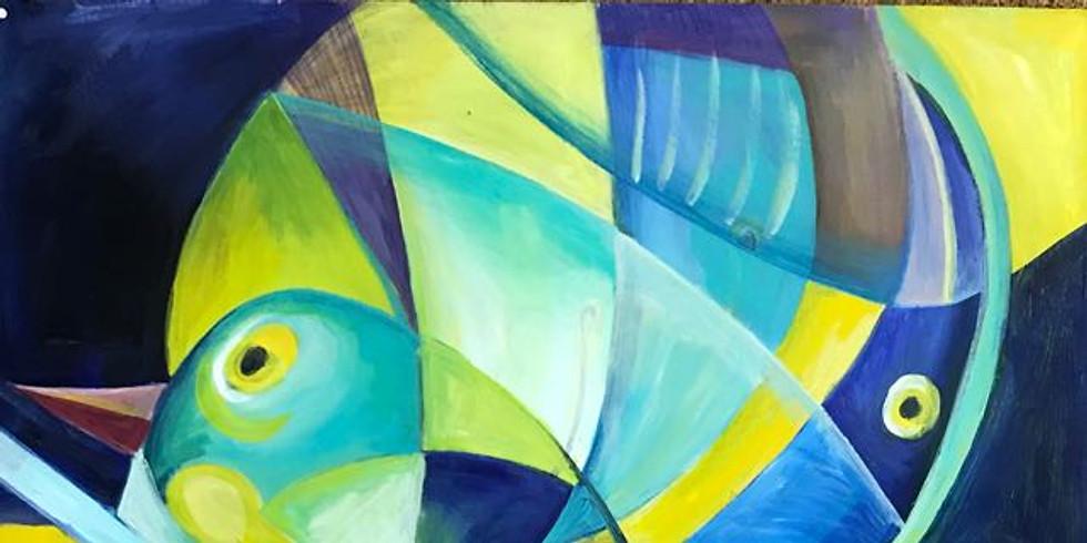 Acrylschilderen met Leentje Bondroit