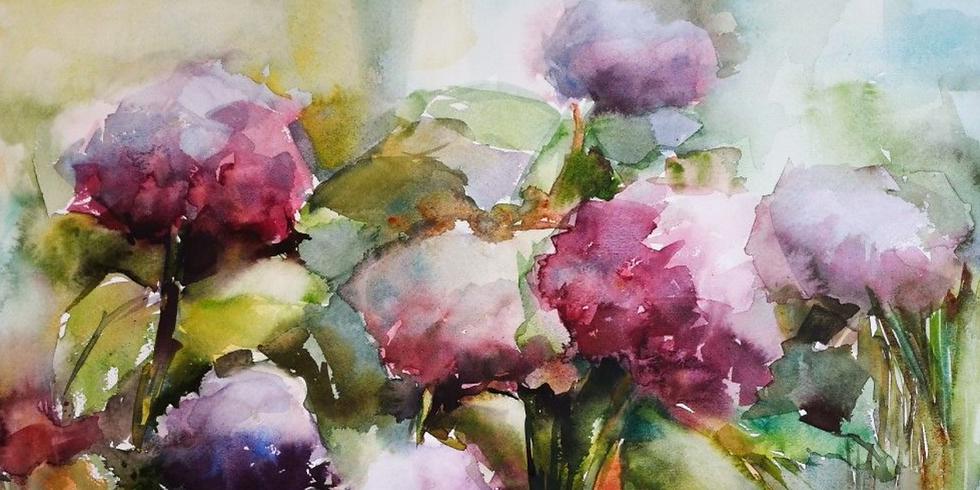 Bloemen aquarel (vanaf 16j)
