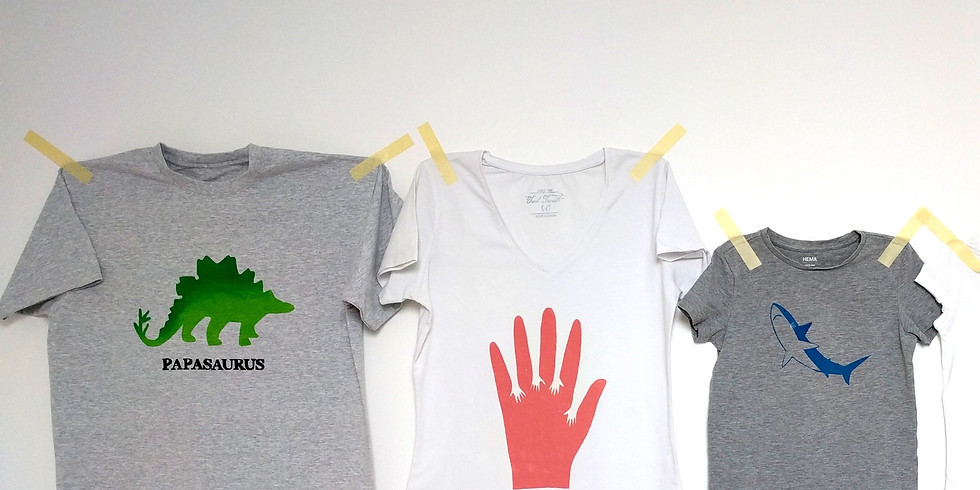 Ontwerp en bedruk je eigen T-shirt (6j+)