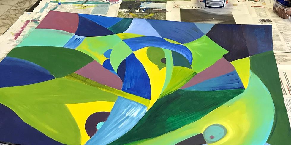 Acrylschilderen met Leentje Bondroit (4)