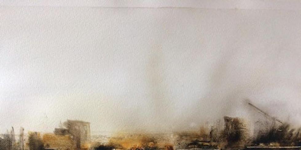AQUAREL  abstract landschap