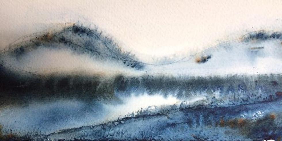 AQUAREL landschap semi- abstract