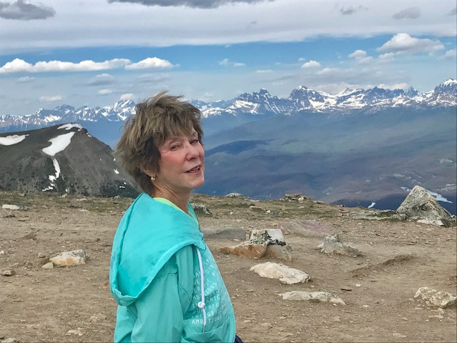 Eileen in the Canadian Rockies