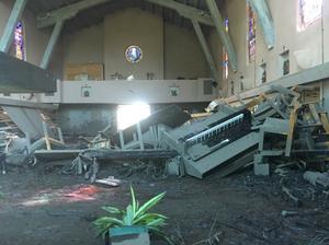 Damage to La Casa de Maria