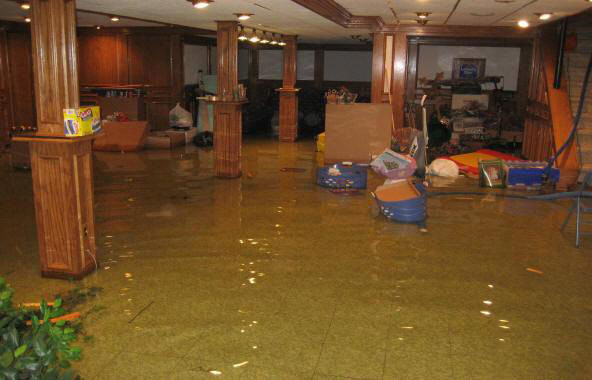 Flooded New York Basement