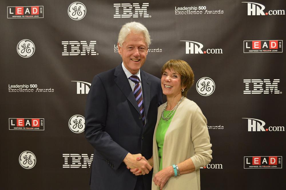 Eileen McDargh with President Clinton