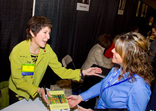 Author Eileen signing book