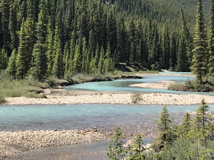 Creek Flows through the Mountains