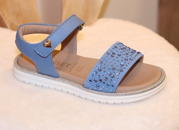 Twin Set Sandal Strass blauw