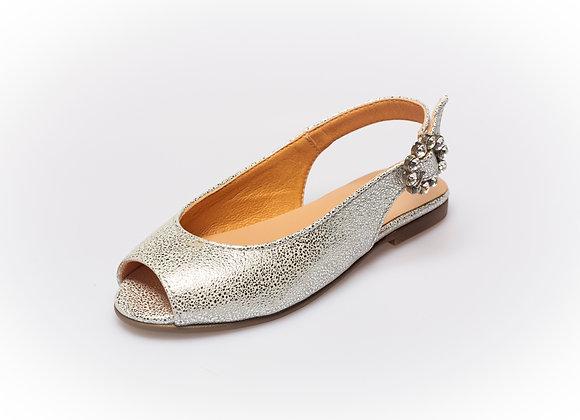 Clarys Peep Toe Silver
