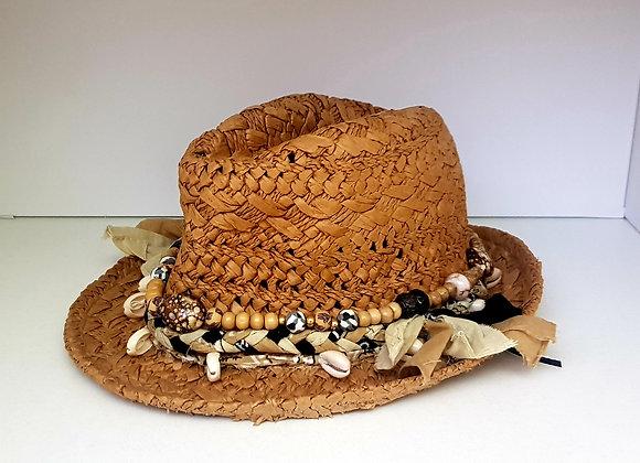 Boho Hat Ruffles & Pearls
