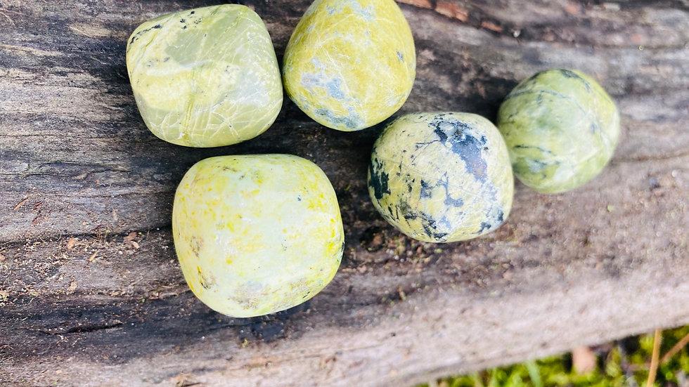 Green Serpentine Pebbles