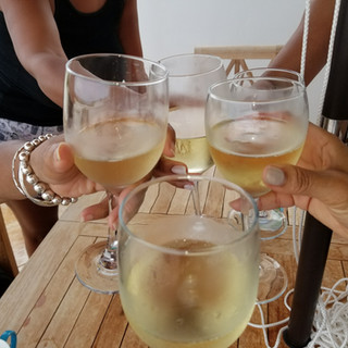 toast to the good life with friends-new & tenured