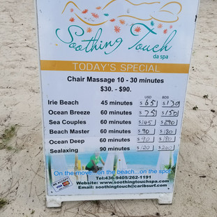 or get  a few massagees on the beach