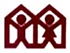 Logo of two people in a house