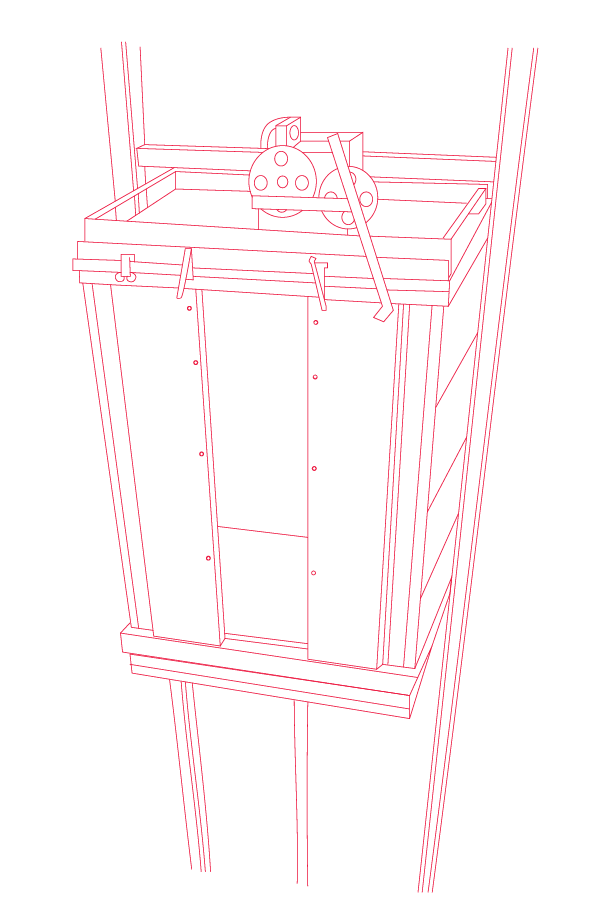 Elevevator cab schematic for maintenance
