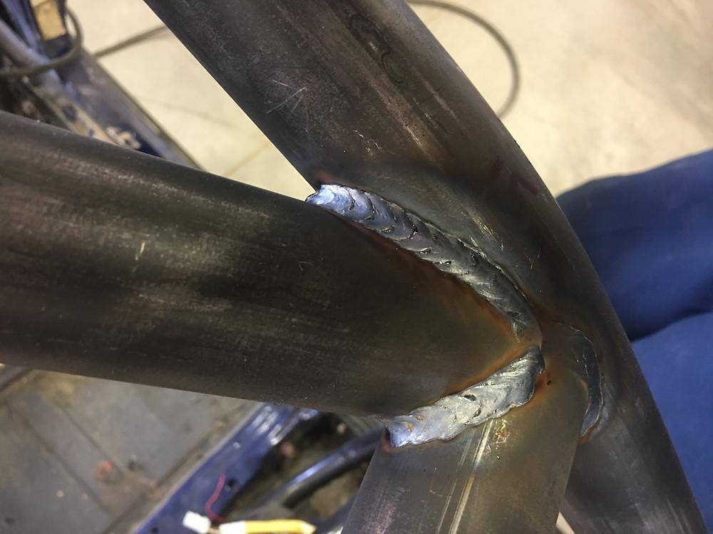 Beautiful welds.Willis Fab Worx roll cage. Tyro Racing a racing team.