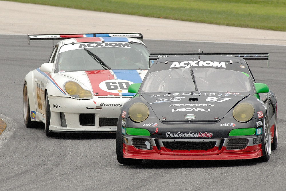 Porsches racing by Tyro Racing