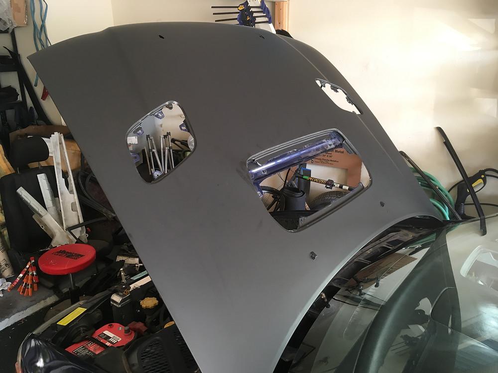 vinyl hood wrap. Tyro Racing a racing team.