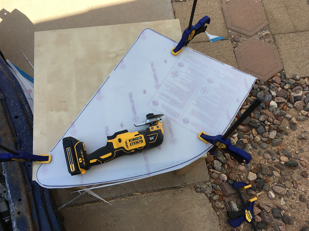 Using the DeWalt made light work of the cutting. Tyro Racing a racing team.