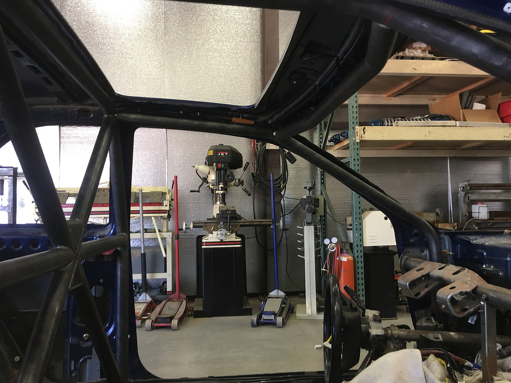 Willis Fab Worx roll cage. Tyro Racing a racing team.