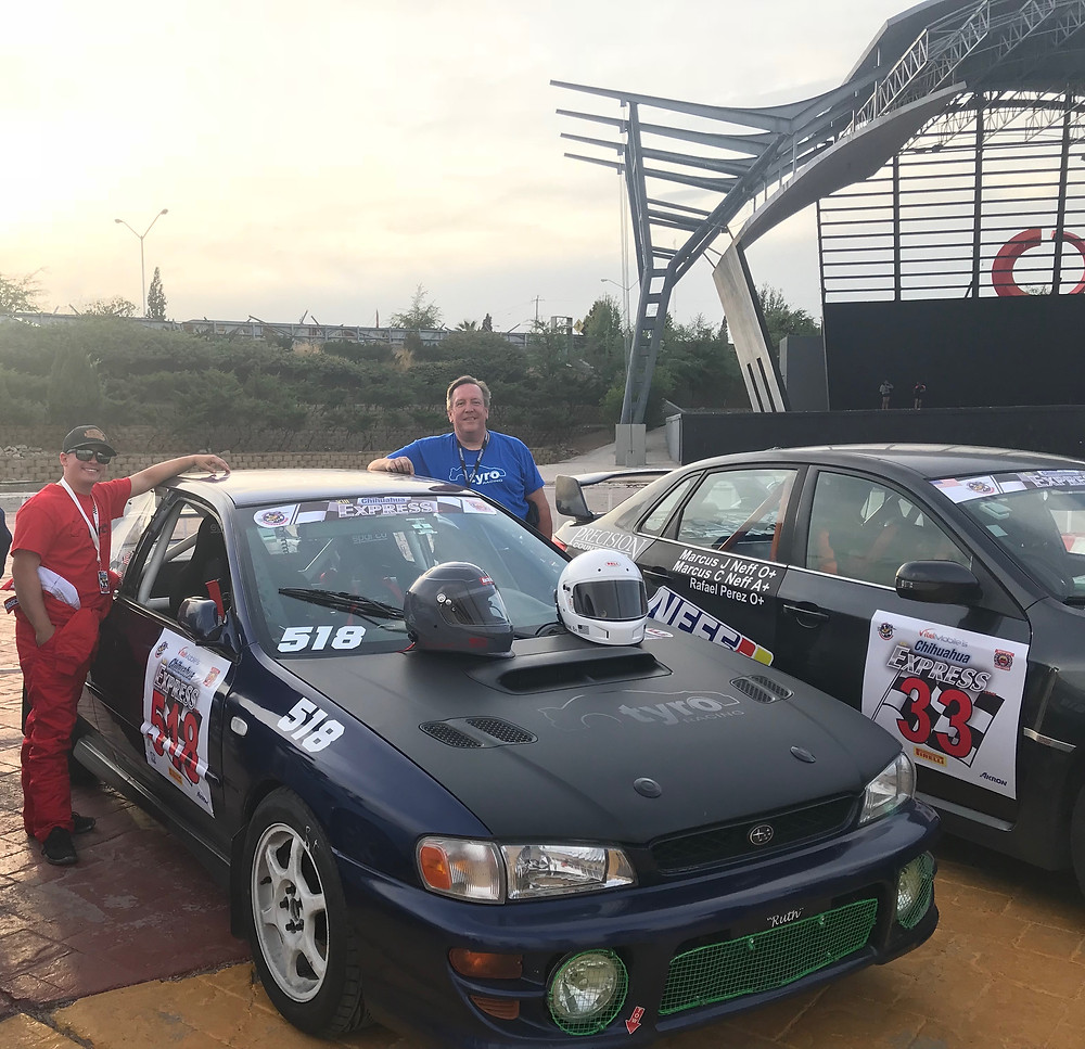 Trading card photo. Tyro Racing. A Racing Team.