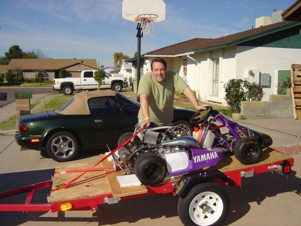 Jeff and his PCR Jaguar shifter kart by Tyro Racing
