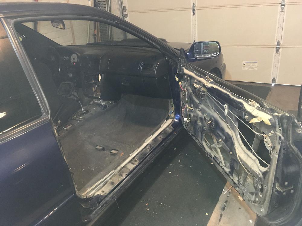 interior removal. Tyro Racing a Racing Team.