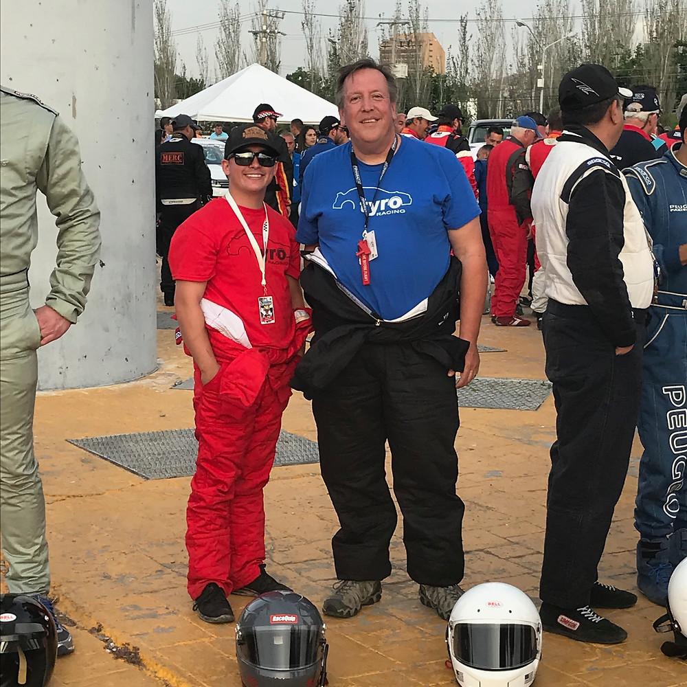 Jeff and Phillip. Tyro Racing. A Racing Team.