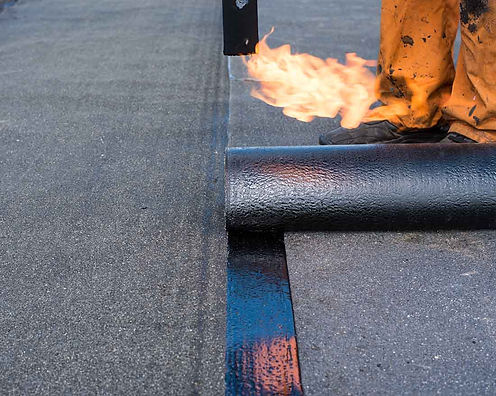 Flat Roofing torch on felt walsall roofi