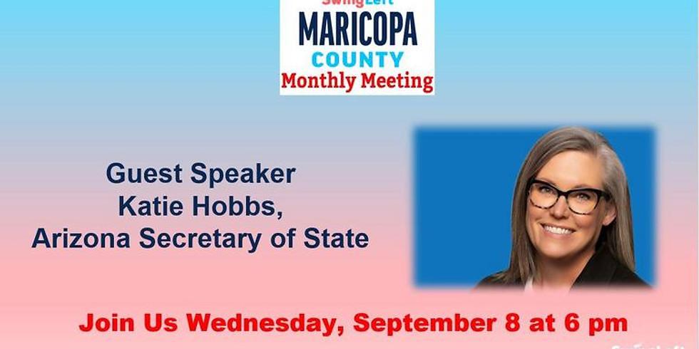 Swing Left Maricopa County AZ Meeting with Katie Hobbs