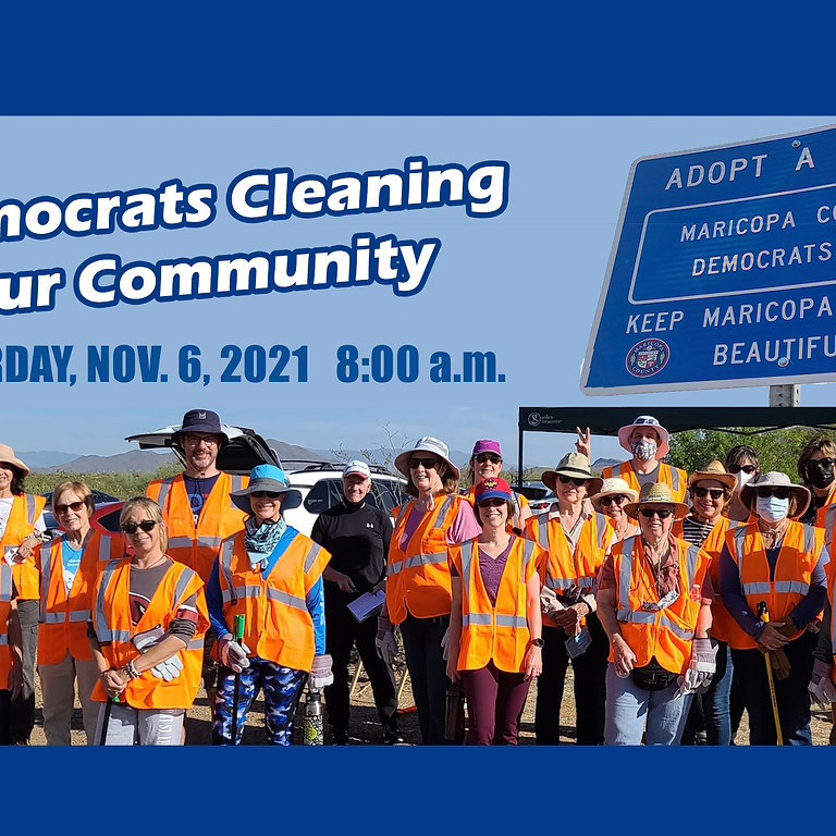 Democrats Cleaning up our Community! Fall clean-up event