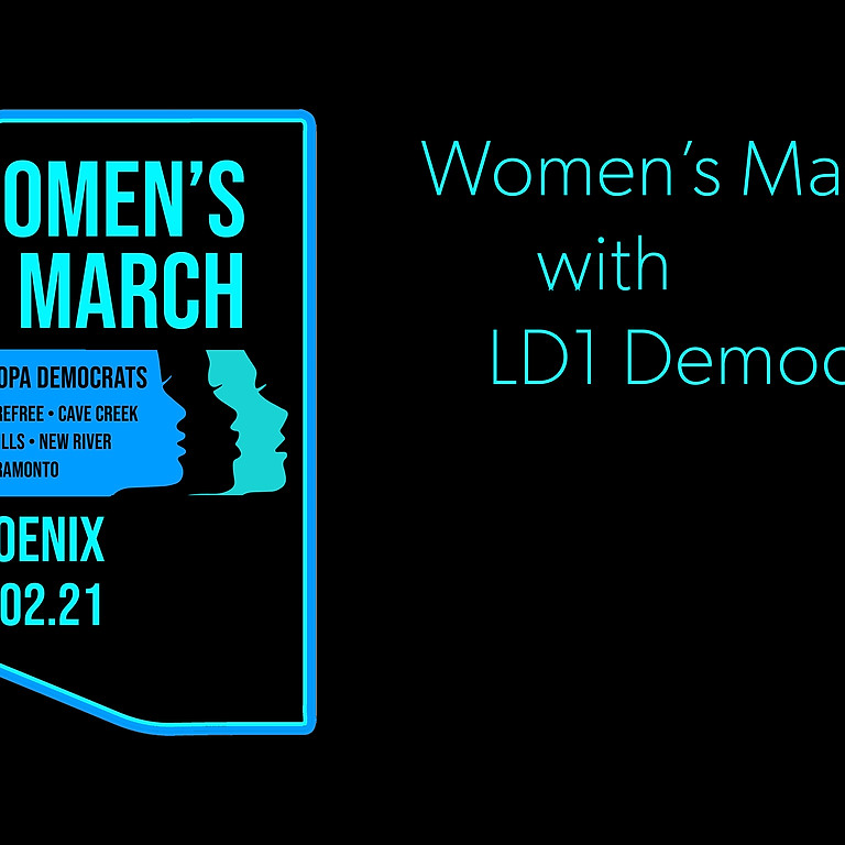 Women's March with LD1 Democrats