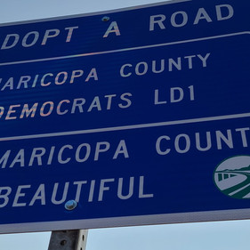 """LD1 Dems is now """"Adopt-a-Road"""" official!"""