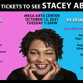 Enter to win a pair of tickets to see Stacey Abrams!
