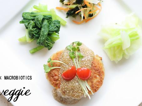 免疫力UPレシピ【大麦】と厚揚げハンバーグ&チアしょう油玉ねぎジュレ