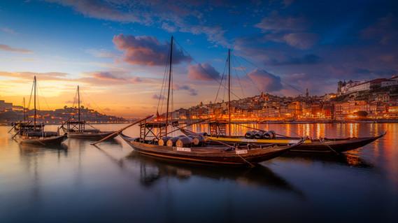 Blue hour in Porto