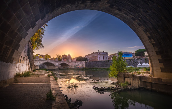 Under the Ponte Sant'Angelo in Rome