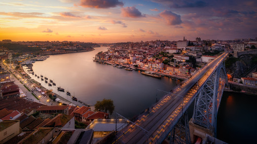 Porto over the Dom Luis Bridge