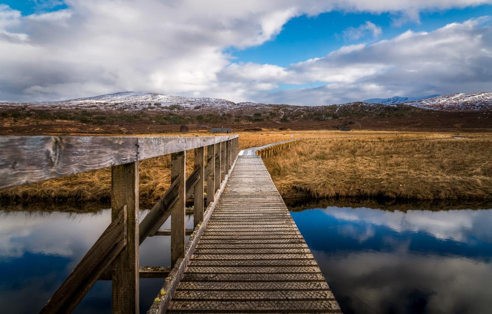 A footbridge over the Loch Gowan