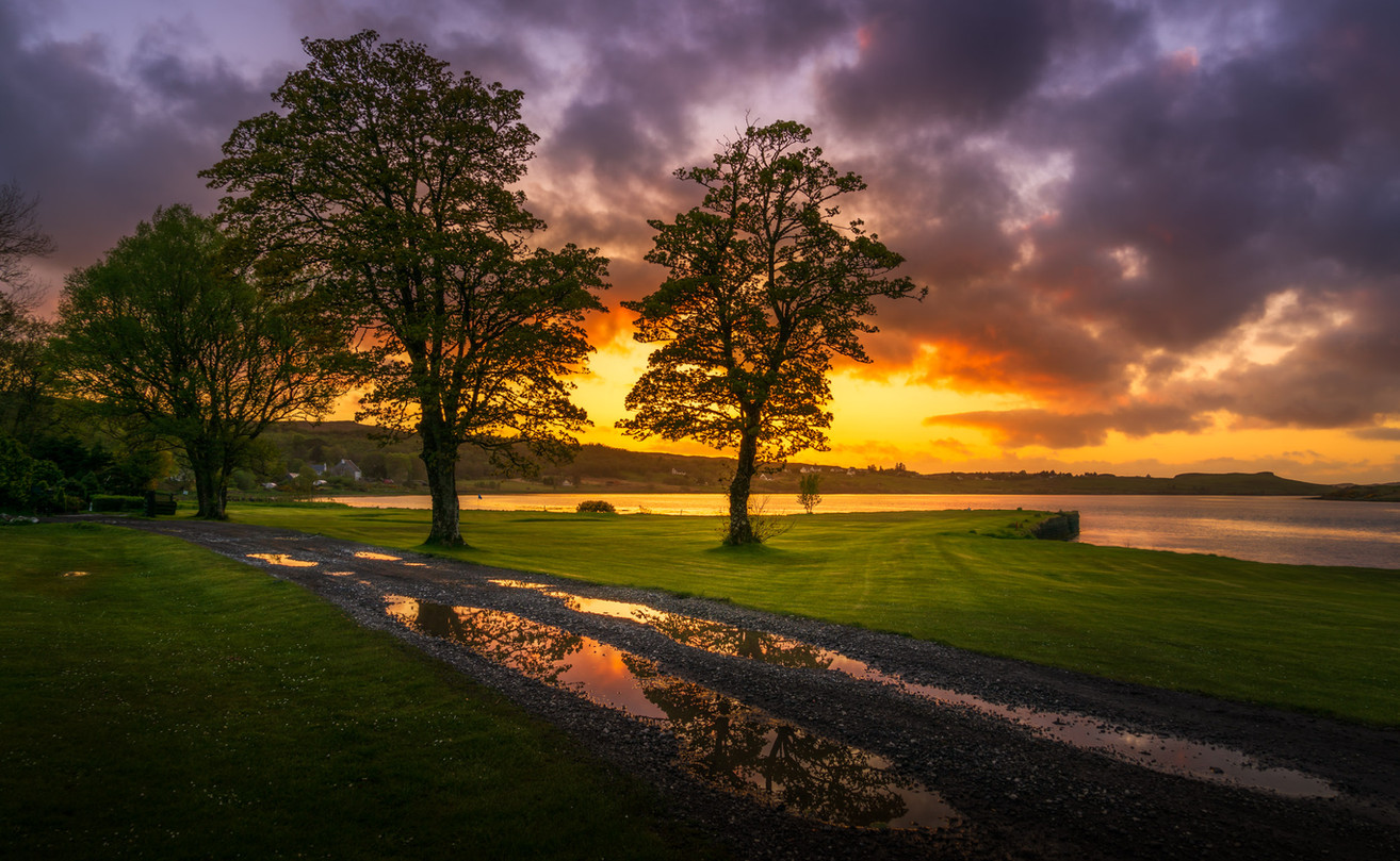 Sunset Over Loch Snizort
