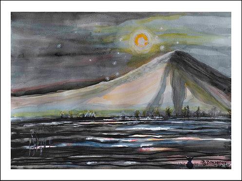 Berget - Akvarelltryck 30 x 40 cm