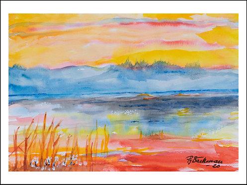 Hälsingland - Akvarelltryck 30 x 40 cm