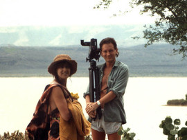 Py och Thomas Ledin i Afrika 1986
